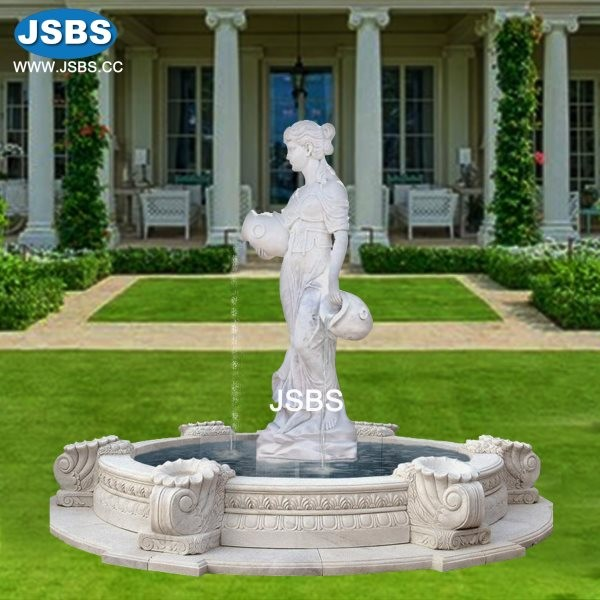 Grecian Lady Vases Fountain Marble Fireplace Marble Fountain